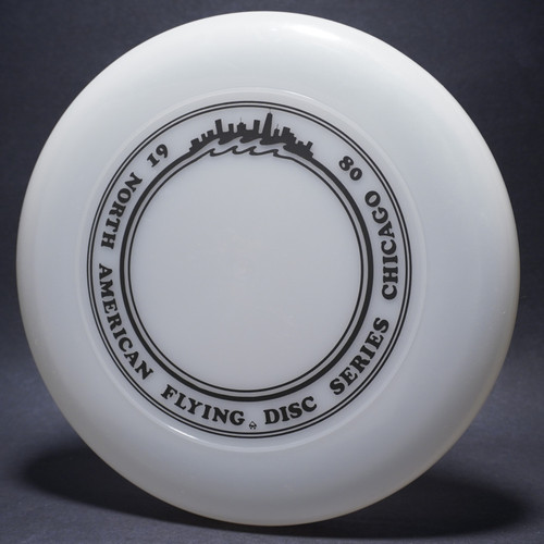 Sky-Styler North American Flying Disc Series Chicago 80 Clear w/ Black Matte-TR Top View