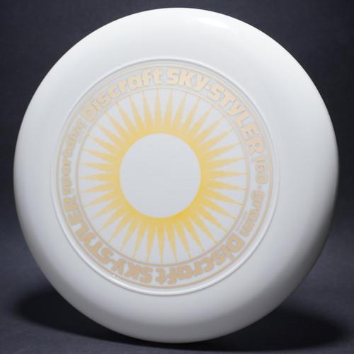 Sky-Styler Sun White w/ Yellow Matte Sun and Metallic Gold Ring - Thin Ring - Top View