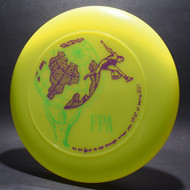 Sky-Styler FPA 1991 New World Tour Disc Bright Yellow/Green w/ Purple and Green Matte Top View