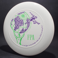 Sky-Styler FPA 1991 New World Tour Disc White w/ Purple and Green Matte Top View