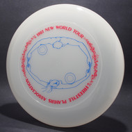Sky-Styler 1981 FPA New World Tour Clear w/ Matte Red Text and Matte Blue Chest Roll - Thin Ring - Top View