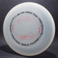 Sky-Styler 1981 FPA New World Tour Clear w/ Matte Black Text and Matte Red Chest Roll - Thin Ring - Top View