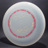 Sky-Styler 1981 FPA New World Tour Clear w/ Matte Red Text and Metallic Gold Chest Roll - Thin Ring - Top View