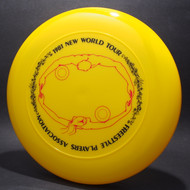 Sky-Styler 1981 FPA New World Tour Yellow w/ Matte Black Text and Matte Red Chest Roll - Thin Ring - Top View