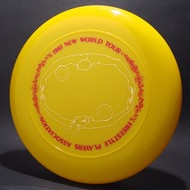Sky-Styler 1981 FPA New World Tour Yellow w/ Matte Red Text and Metallic Gold Chest Roll - Thin Ring - Top View