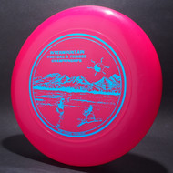 Sky-Styler Intermountain Frisbee and Footbag Championships Hot Pink w/ Metallic Blue - T90 - Top View