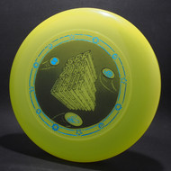Sky-Styler SFF 20AR 1974 1994 Bright Yellow w/ Metallic Blue and Black Matte- T90 - Top View