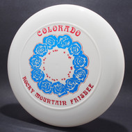 Sky-Styler Colorado RM Frisbee Roses Clear w/ Blue Metallic Roses and Metallic Red Foil - No Tooling - Top View