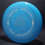Sky-Styler 1983 Freestyle World Disc Champioship Series Blue w/ Metallic Blue and White Matte - T80 - Top View