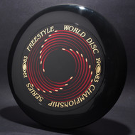 Sky-Styler 1983 Freestyle World Disc Champioship Series Black w/ Metallic Gold and Red Matte - T80 - Top View
