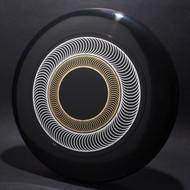 Sky-Styler Spirals Black w/ Metallic Silver and Metallic Gold - T80 - Top View