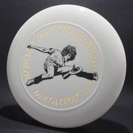 1982 World Disc Championships V Santa Cruz White w/ Metallic Gold and Black Matte - T80 - Top View