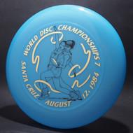 Sky-Styler 1982 World Disc Championships 7 Santa Cruz Blue w/ Metallic Gold and Black Matte - T80 - Top View