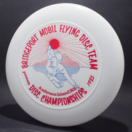 Sky-Styler Bridgeport Mobil Flying Disc Team White w/ Red and Blue Matte - T80 - Top View
