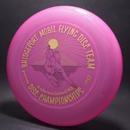 Sky-Styler Bridgeport Mobil Flying Disc Team Purple w/ Metallic Gold and Black Matte - T80 - Top View