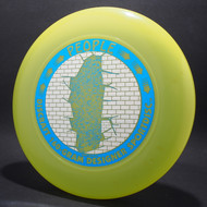 Sky-Styler Discraft People Bright Green w/ Metallic Silver Sparkle Prism Brick and Metallic Blue People - T90 - Top View