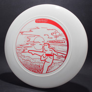 Sky-Styler Israeli Frisbee Players White w/ Metallic Red Top View