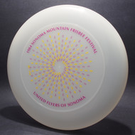 Sky-Styler United Flyers of Sonoma (UFOs) 84 Sonoma Mountain Frisbee Festival Clear w/ Purple and Yellow Matte - T80 Top View