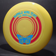 Buffalo Wing Team Disc Sports Club Yellow w/ Metallic Blue and Red Matte Top View