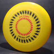 Sky-Styler Disc Flights Yellow w/ Red and Black Matte - T80 - Top View
