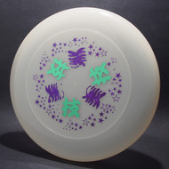 Sky-Styler Japanese Writing w/ Stars Clear w/ Green Matte and Blue-Red Shatter Top View