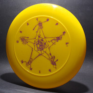 Sky-Styler Grateful Disc Skeletons and Rose Yellow w/ Purple Matte-T80 Top View