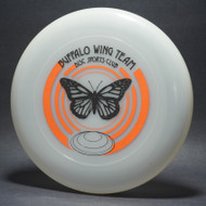 Sky-Styler Buffalo Wing Team Disc Sports Club Clear w/ Orange and Black Matte - TR - Top View
