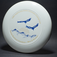 UltraStar 1982  Cal State Ultimate Championships Santa Barbara Condors Women and Men White w/ Metallic Gold and Blue Matte