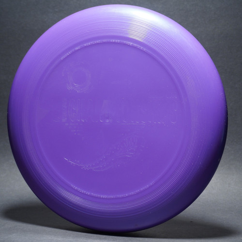 "UltraStar 2002 UPA Club Ultimate Championships Purple w/ ""Ghost"" Stamp Top View"