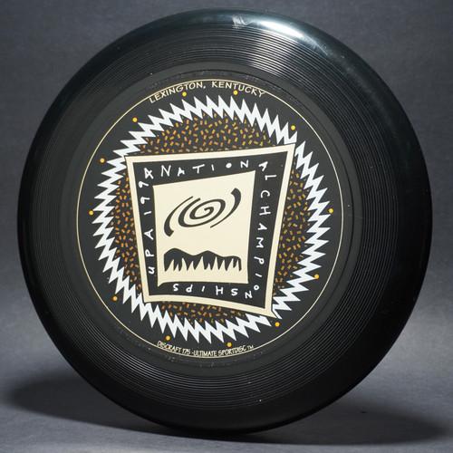 UltraStar 1994 UPA National Championships Black w/ White Matte, Metallic Gold and Metallic Copper Top View