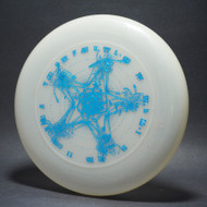 Sky-Styler Grateful Disc, Skeletons and Rose Clear UV w/ Metallic Blue - Triple Stamped - T80 - Top View