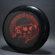 Sky-Styler Workingman's Disc Black w/ Red Matte Top View