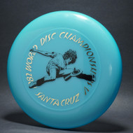 Sky-Styler 1982 World Disc Championships V Santa Cruz Blue w/ Metallic Gold and Black Matte Top View
