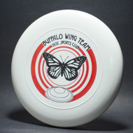 Sky-Styler Buffalo Wing Team Disc Sports Club White w/ Red and Black Matte Top View