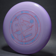 Sky-Styler 1982 Colorado State Frisbee Championships Black w/ Metallic Gold and Rainbow Matte - T80 - Top View
