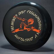 Sky-Styler 1982 World Disc Championships V Santa Cruz Black w/ Metallic Gold and Red - T80 - Top View
