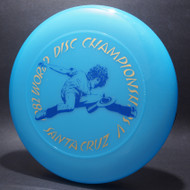 Sky-Styler 1982 World Disc Championships V Santa Cruz Blue w/ Metallic Gold and Blue Matte - T80 - Top View