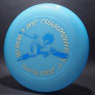 Sky-Styler 1982 World Disc Championships V Santa Cruz Blue w/ Metallic Gold and Blue - T80 - Top View