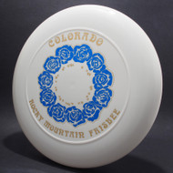 Sky-Styler 82 Colorado Rocky Mountain Frisbee White w/ Metallic Blue and Gold - NT - Top View