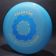 Sky-Styler 82 Colorado Rocky Mountain Frisbee Blue w/ Metallic Blue and Gold - NT - Top View