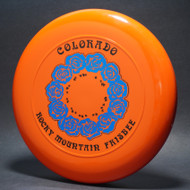 Sky-Styler 82 Colorado Rocky Mountain Frisbee Orange w/ Metallic Blue and Black Matte - NT - Top View