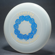 Sky-Styler 82 Colorado Rocky Mountain Frisbee Clear w/ Metallic Blue and Gold - NT - Top View
