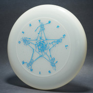 Sky-Styler Grateful Disc, Skeletons and Rose Clear UV w/ Metallic Blue - T80 - Top View