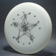 Sky-Styler Grateful Disc, Skeletons and Rose Clear UV w/ Black Matte - T80 - Top View