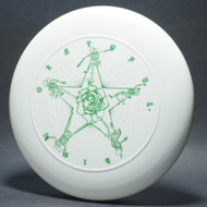 Sky-Styler Grateful Disc Skeletons and Rose White w/ Metallic Green -T80 - Top View