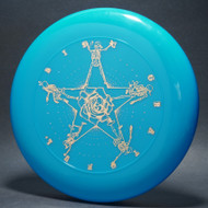 Sky-Styler Grateful Disc, Skeletons and Rose Blue w/ Metallic Gold - TR - Top View