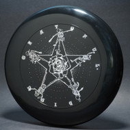 Sky-Styler Grateful Disc, Skeletons and Rose Black w/ White Matte - TR - Top View