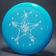Sky-Styler Grateful Disc, Skeletons and Rose Blue w/ White Matte - TR - Top View