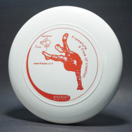 Sky-Styler www.frisbee.co.il Freestyle a Flow of Creation White w/ Metallic Red - T2000s - Top View