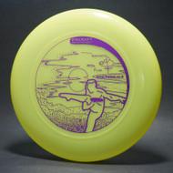 Sky-Styler www.frisbee.co.il Leg Delay Bright Green w/ Metallic Purple - T2000s - Top View